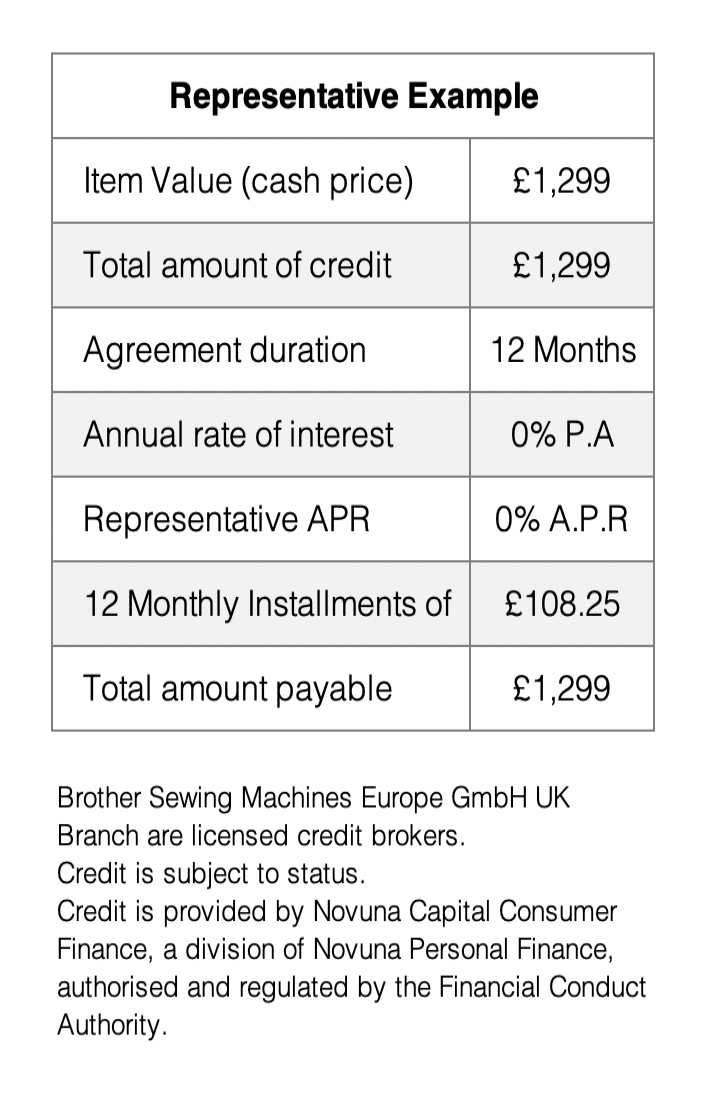 12 Month Interest Free credit