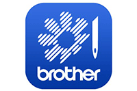 My Stitch Monitor blue Brother icon with flower and needle