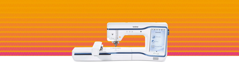 XP1 combination machine on a blue pattern background