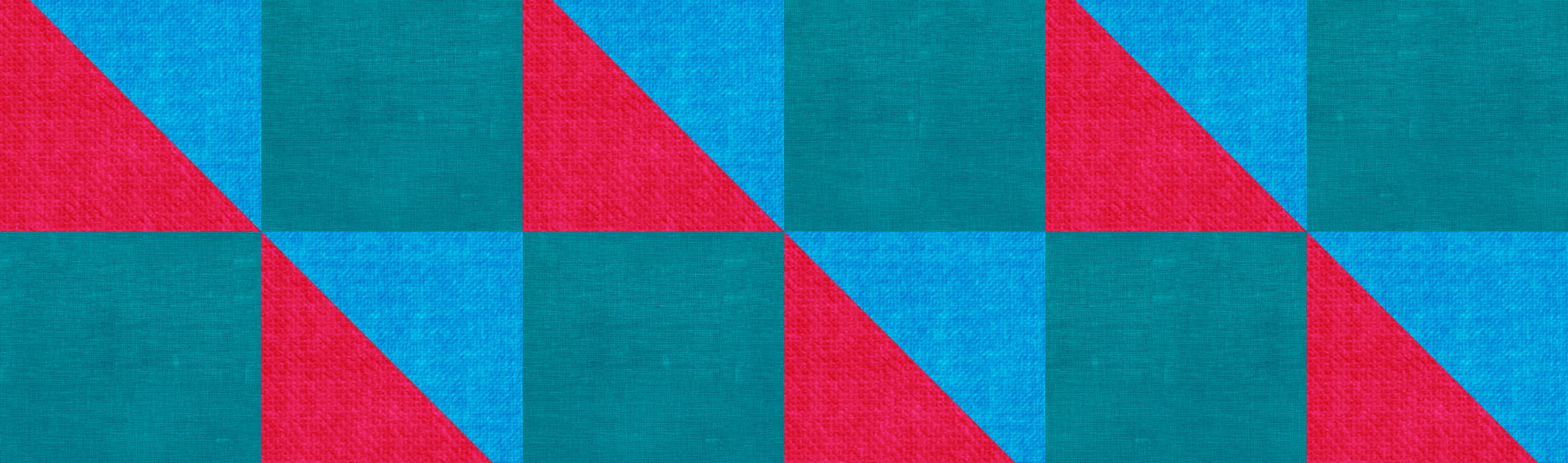 blue, red and teal pattern