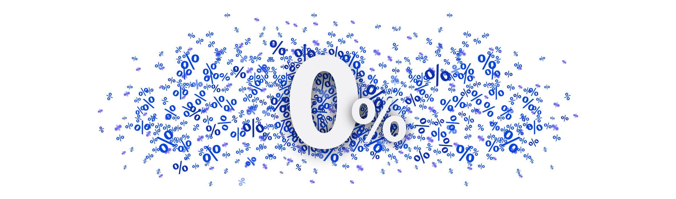 Blau weiße 0 % Grafik