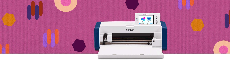ScanNCut SDX2200D Disney cutting machine on pink paper background