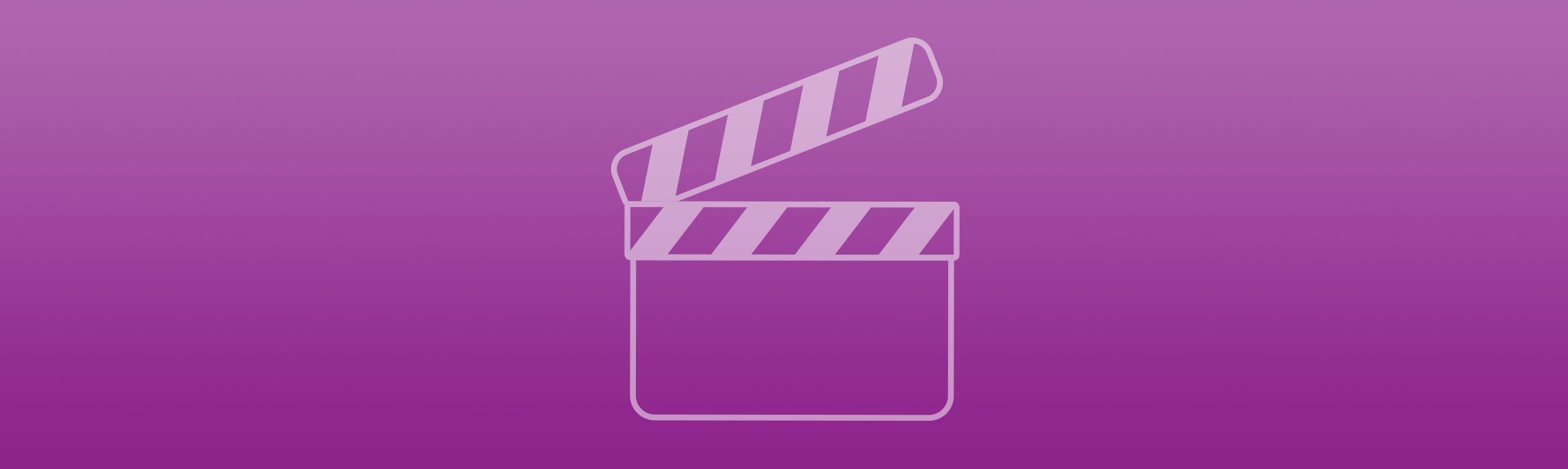 Video gallery on purple background