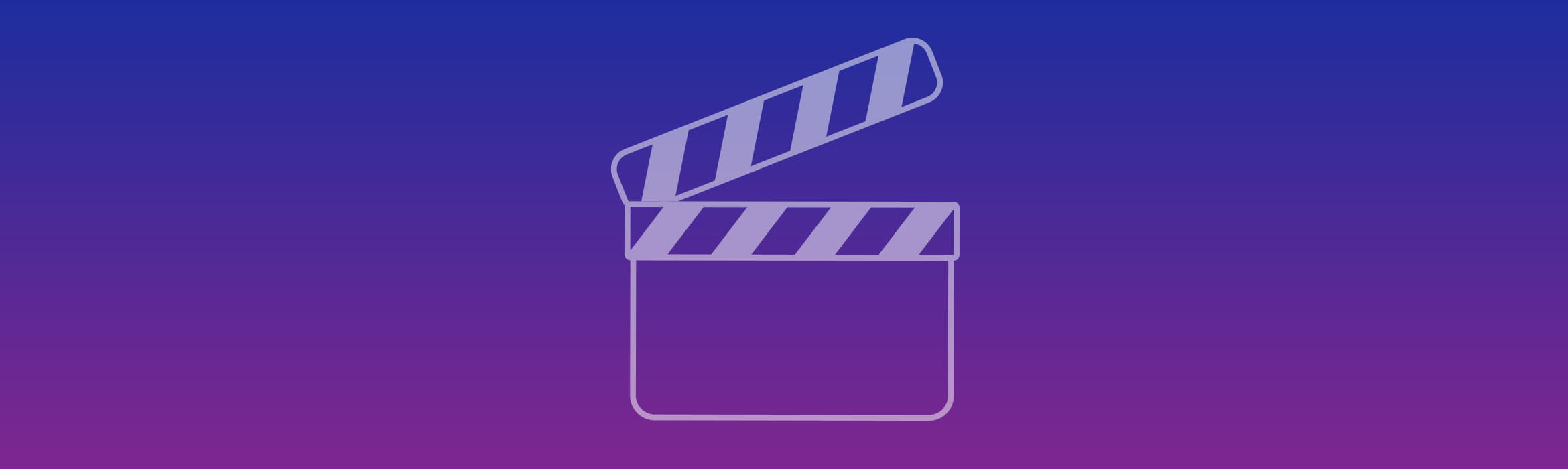 Video player logo on purple background