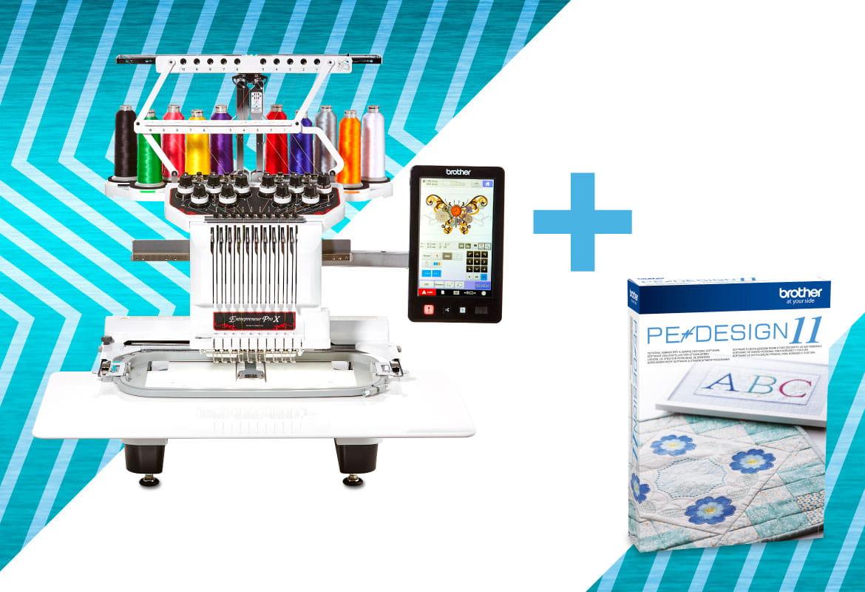 PR1050X Stickmaschine mit kostenloser PE-Design Software