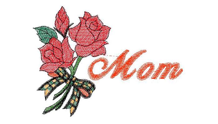 Вышивка мамы