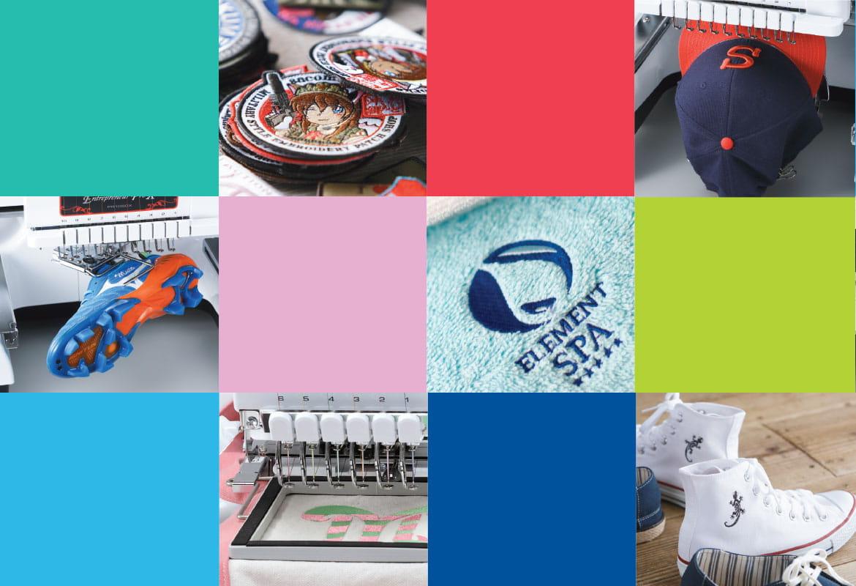 Kleurrijke mix van geborduurde patronen