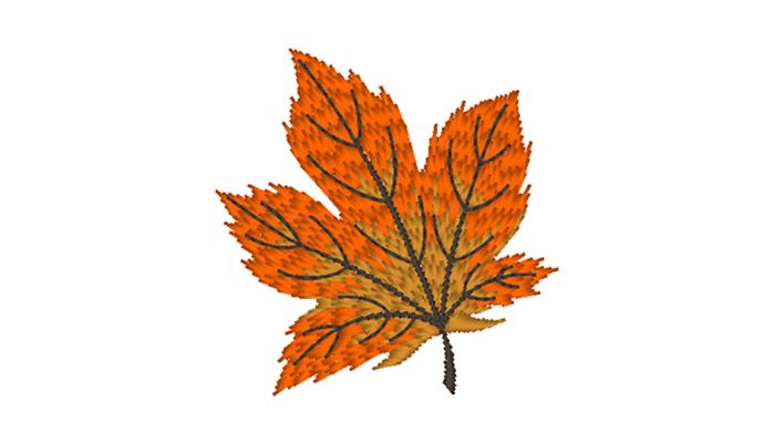 Autumn leaf embroidery pattern design