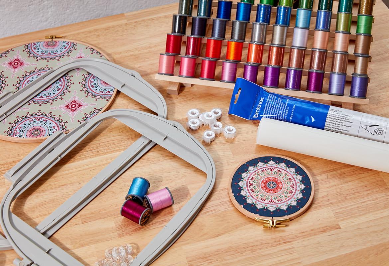 Accessoires voor naai-, borduur-, overlock- en quiltmachines