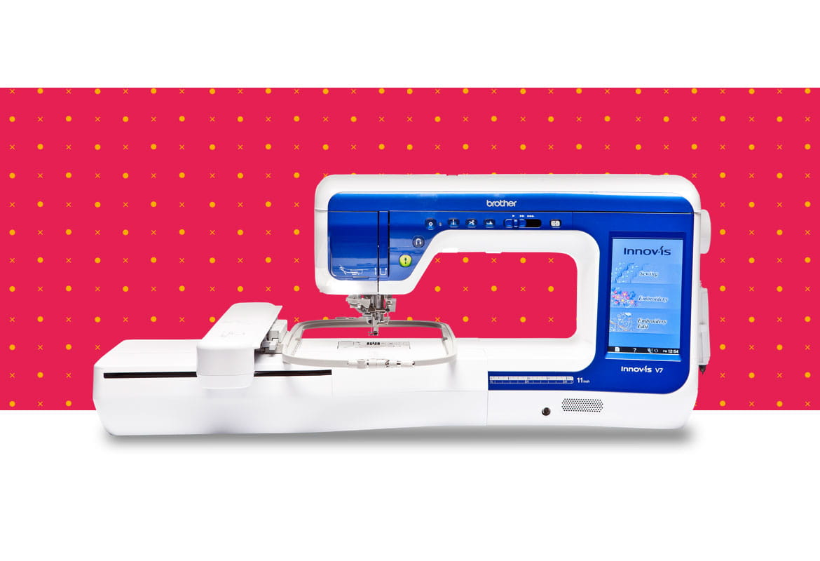Innov-is-V7 combination machine on a red dotted background