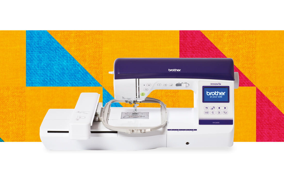 NV2600 combination machine on a multicoloured pattern background
