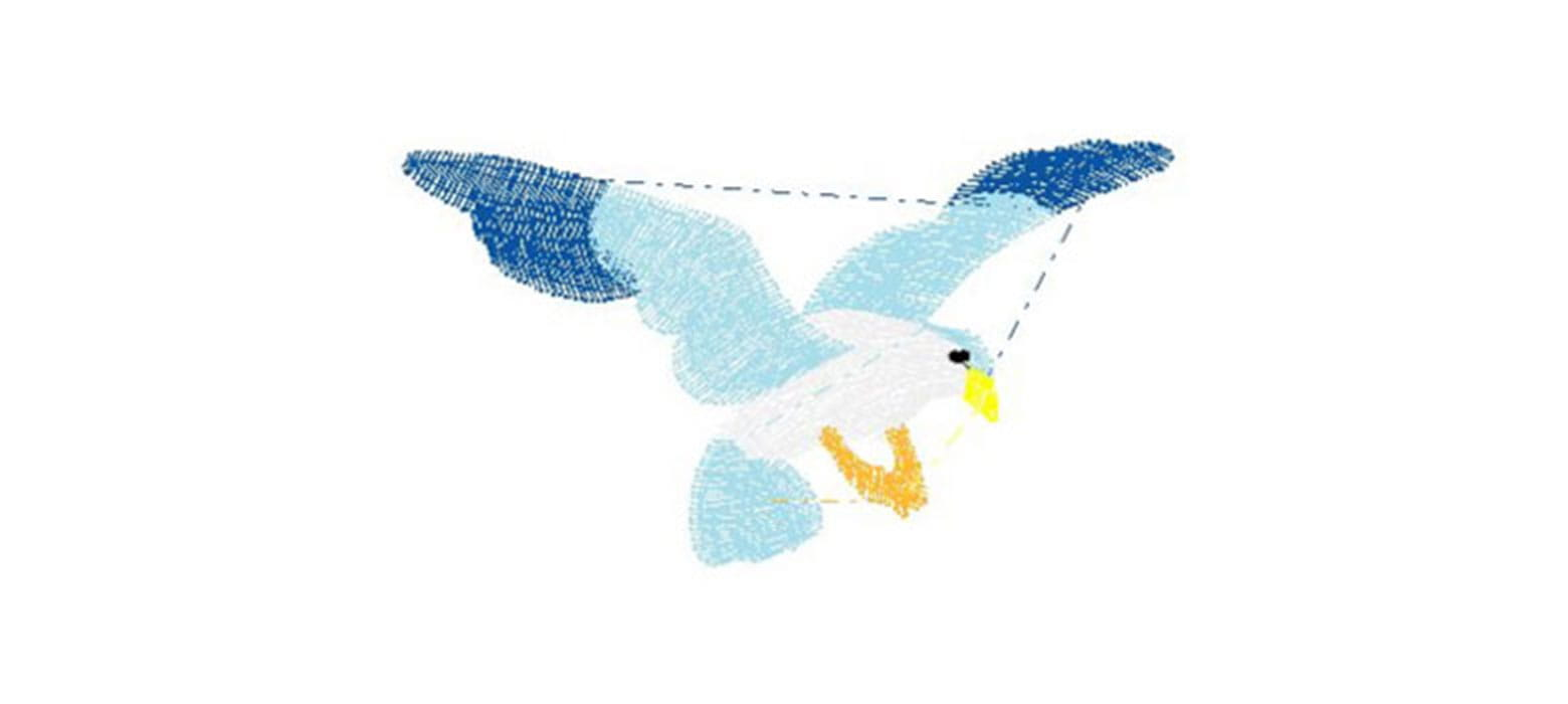 Vogel-Stickmuster