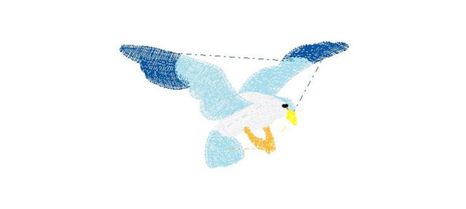 Borduurpatroon vogel