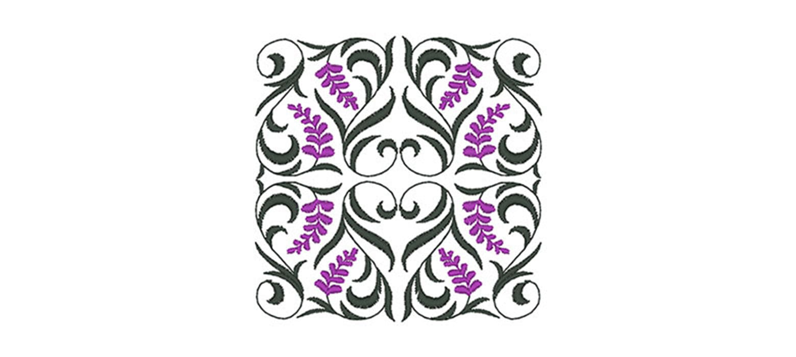 Frilly leaves embroidery design