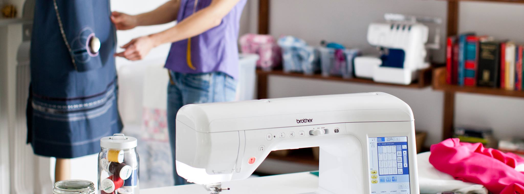 Macchina per cucire in studio