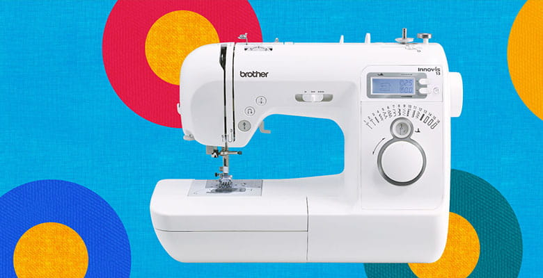 Innov-is 15 sewing machine on bright circles background