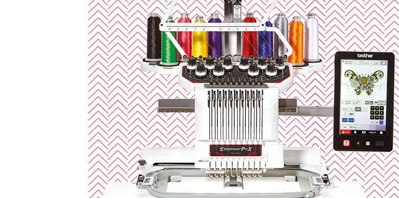 PR1050X 10-needle embroidery machine