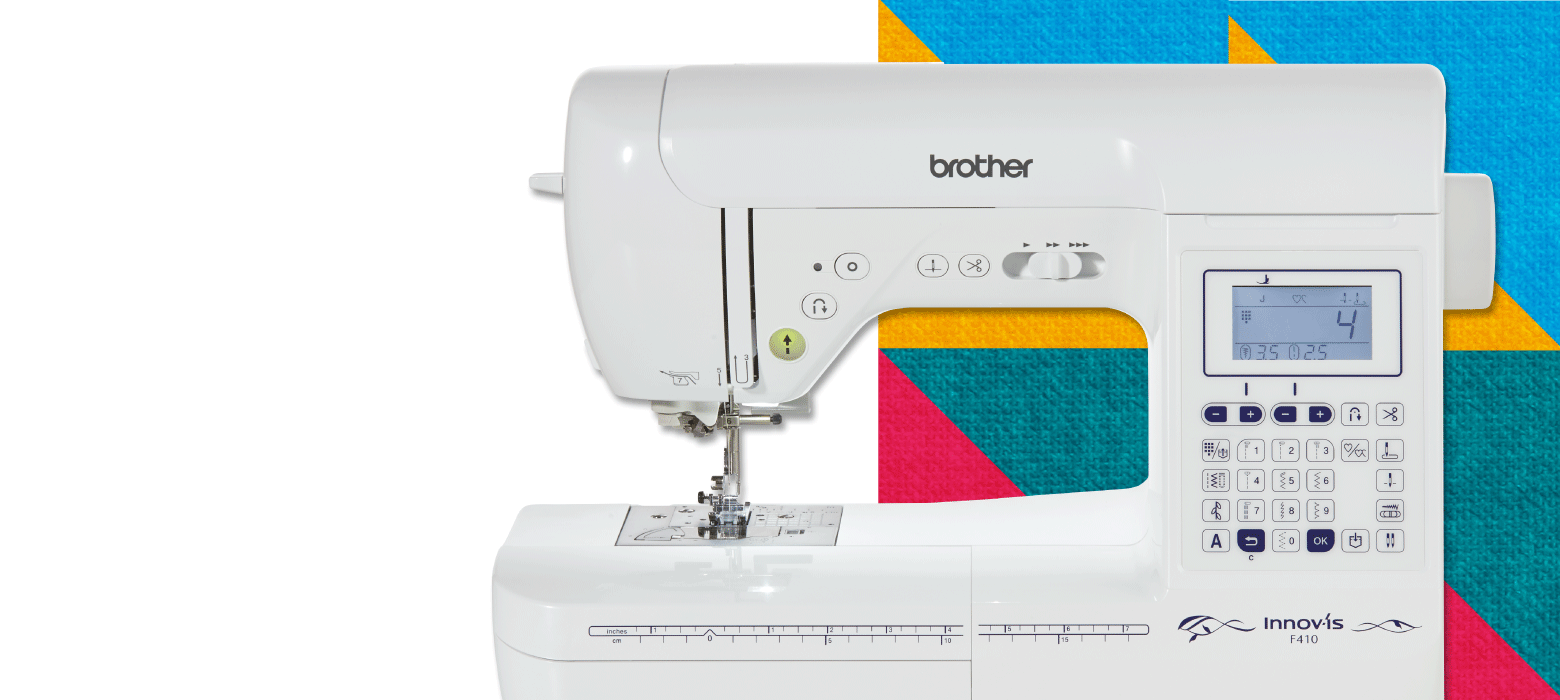 Brother Innov-is F410 on pattern background