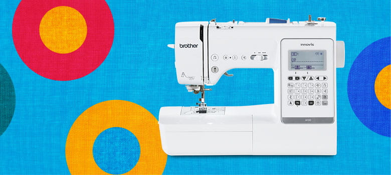 Brother Innov-is A150 sewingmachine on colorful background