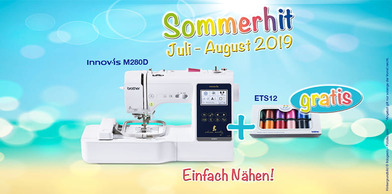 Sommerhit Angebot Brother Nähmaschine M280D