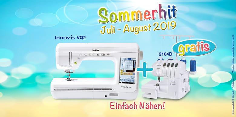 Sommerhit Angebot Brother Nähmaschine VQ2