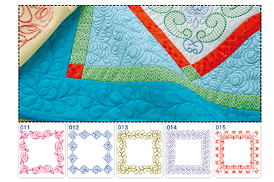 Screen showing new quilt border designs