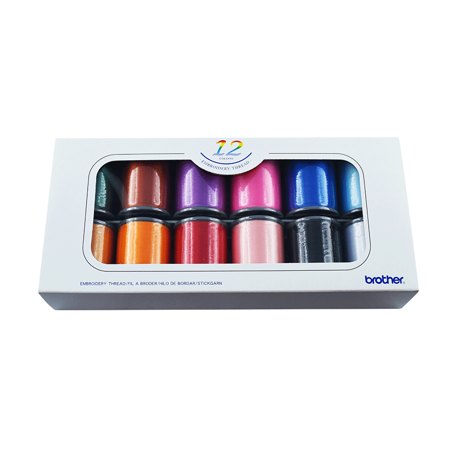 Brother Embroidery Thread set ETS12N - 12 colours