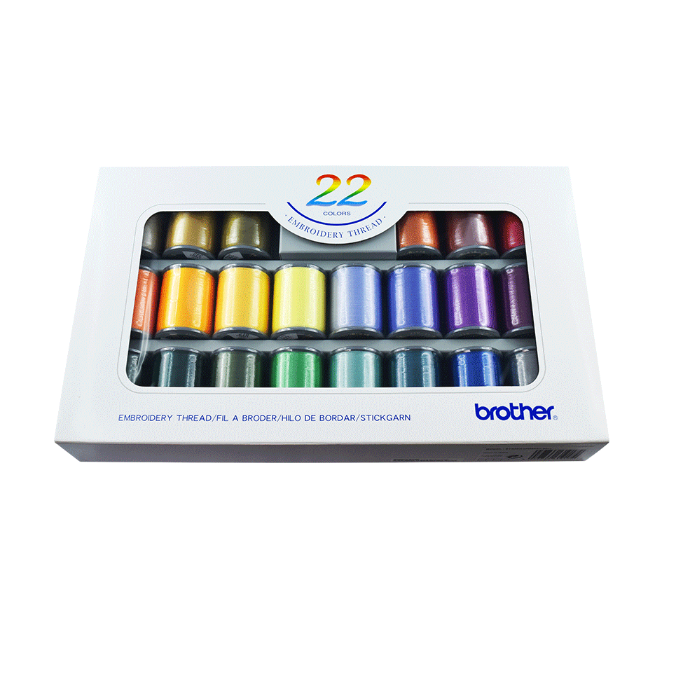 Set filati da ricamo Brother ETS22N - 22 colori