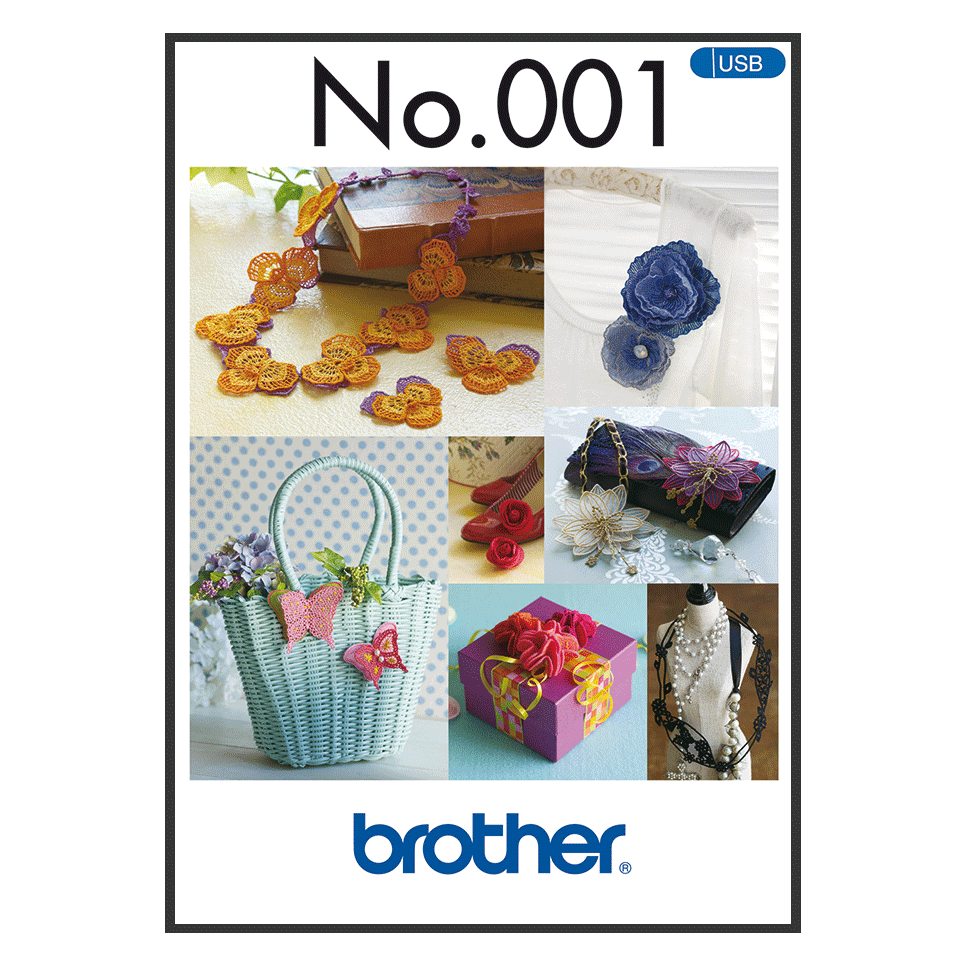 Collection de motifs de broderie n° 1 BLECUSB1