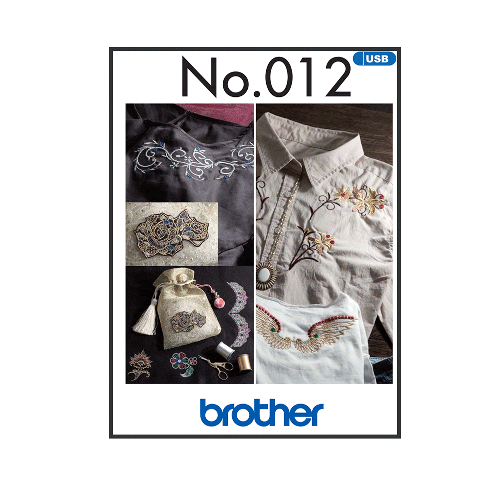 Collection de motifs de broderie n° 12 BLECUSB12