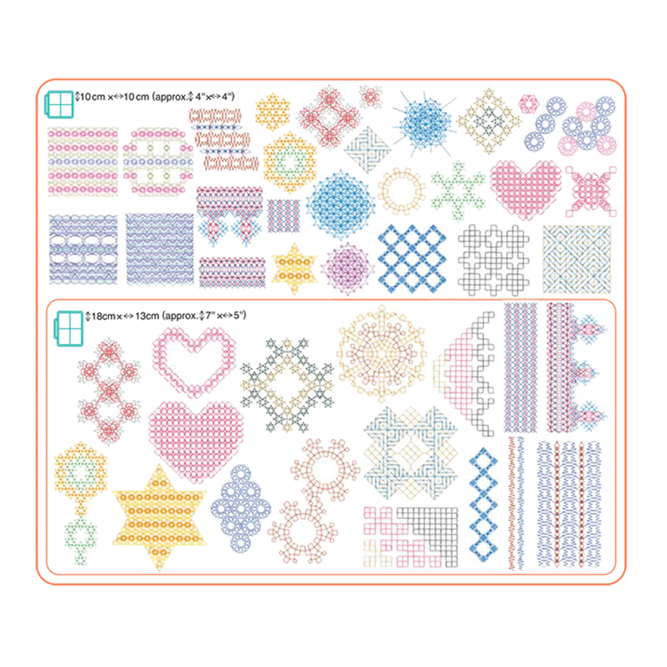 Collection de motifs de broderie n° 14 BLECUSB14 6