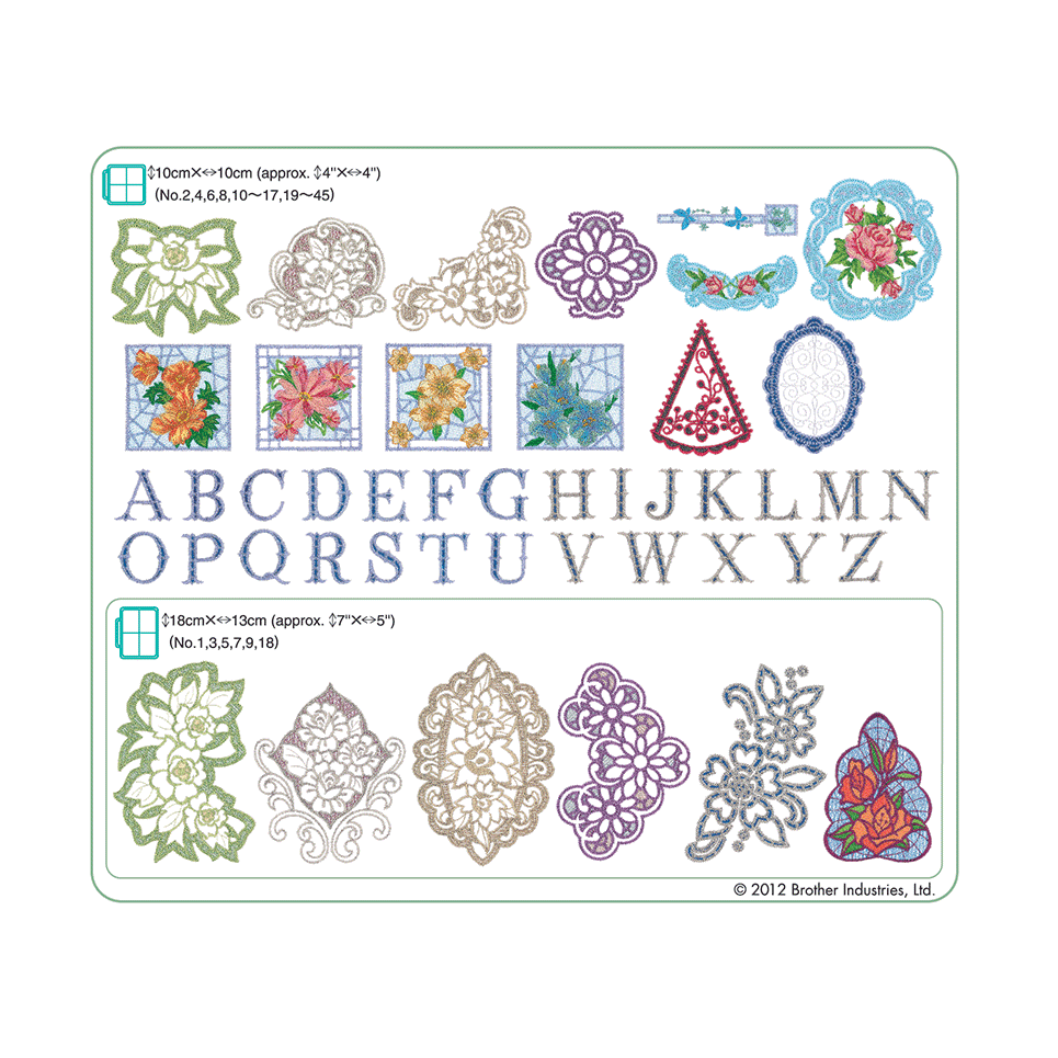 Collection de motifs de broderie n° 8 BLECUSB8 2