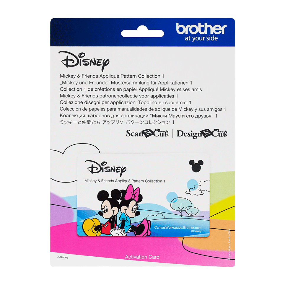 Disney Mickey and Friends Appliqué  design collection CADSNP03