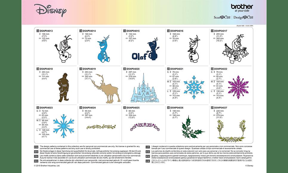 Disney Frozen woondecoratie-patrooncollectie CADSNP04 9