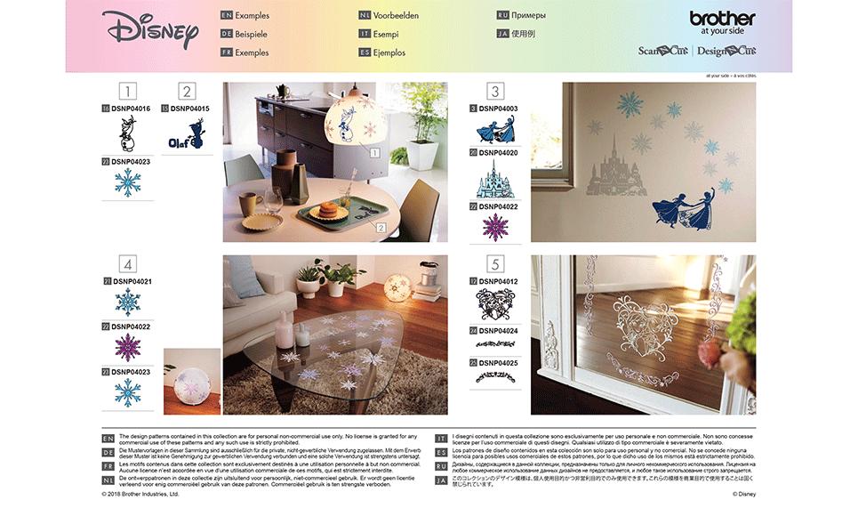 Disney Frozen woondecoratie-patrooncollectie CADSNP04 10