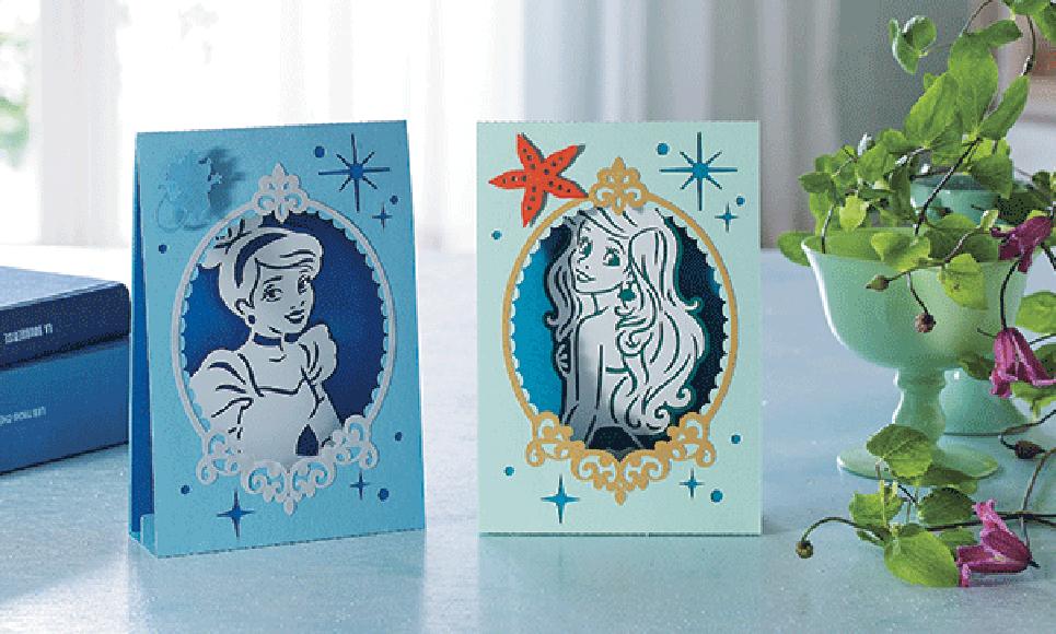 Collection de motifs Cendrillon et Ariel de Disney CADSNP07 3