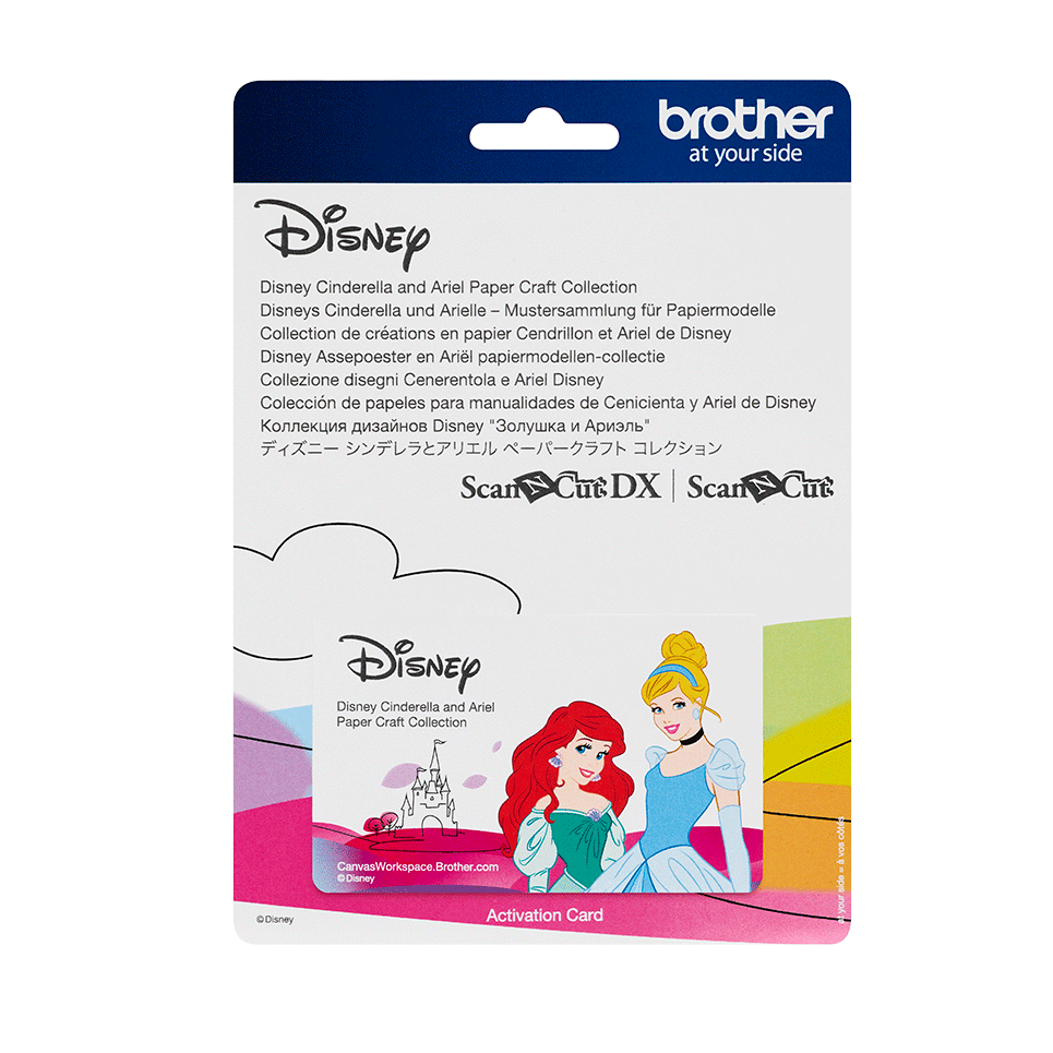 Collection de motifs Cendrillon et Ariel de Disney CADSNP07