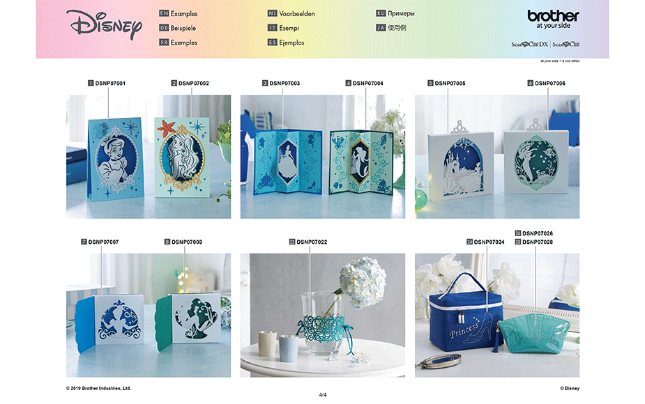 Disney Cinderella and Ariel Paper design collection CADSNP07 9