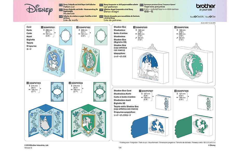 Collection de motifs Cendrillon et Ariel de Disney CADSNP07 12