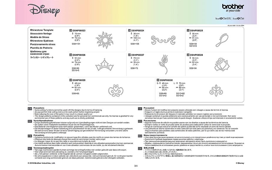 Disney Rapunzel and Aurora Paper design collection CADSNP08 11