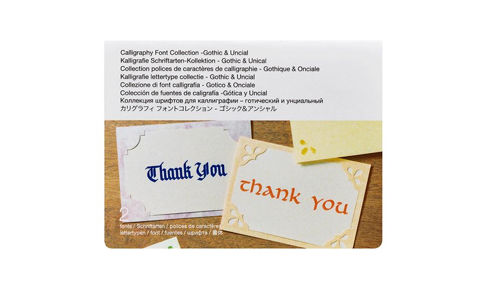 Collection polices de caractères de calligraphie CADXCLGFP01 - Gothique & Onciale