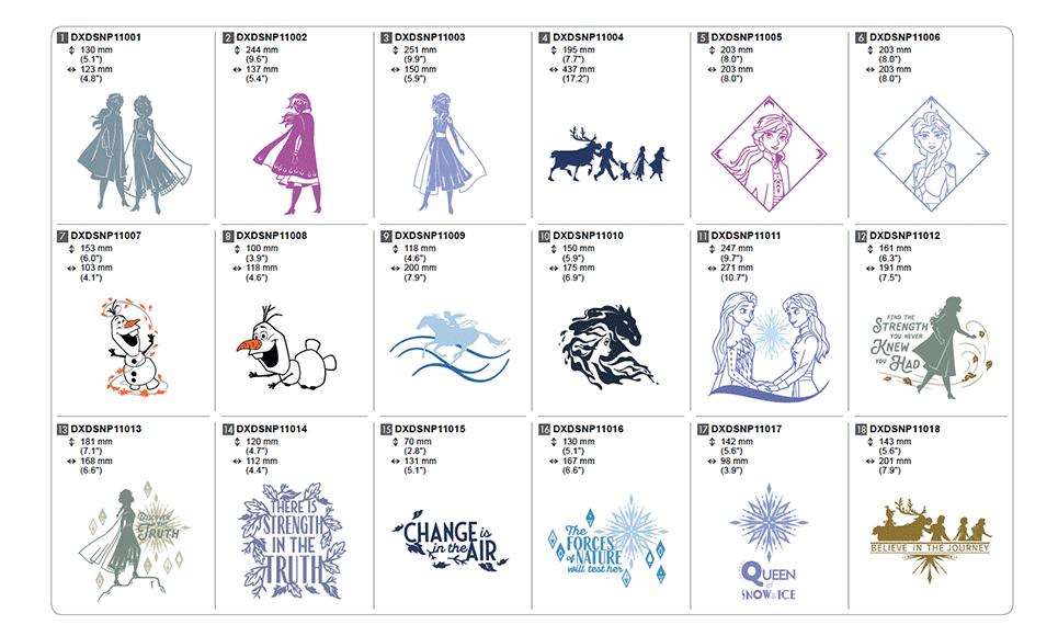 Disney Frozen Ⅱ Design Collection for Vinyl Auto Blade CADXDSNP11 4
