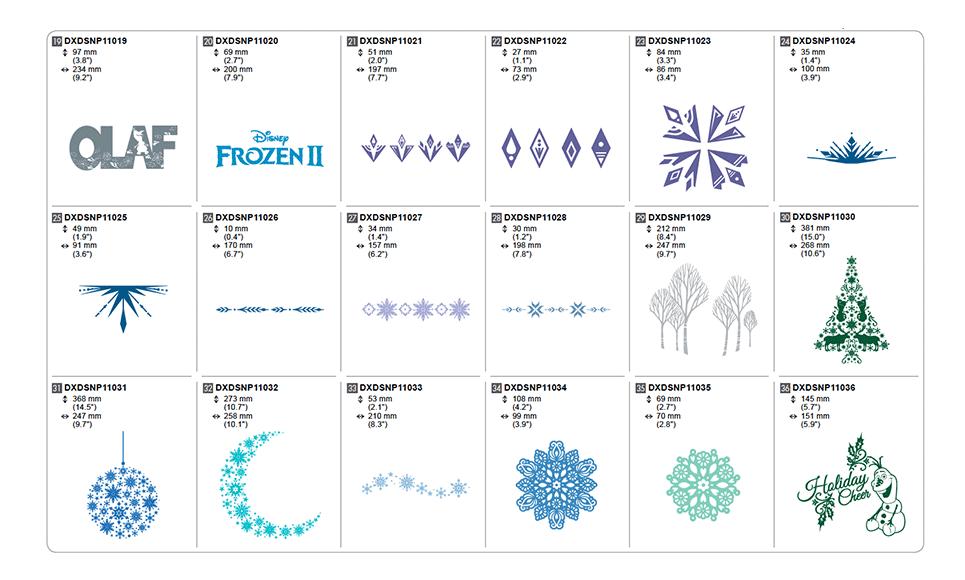 Disney Frozen Ⅱ Design Collection for Vinyl Auto Blade CADXDSNP11 5