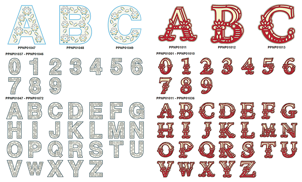 CAPPNP01 PigPong Lettering Collection 2