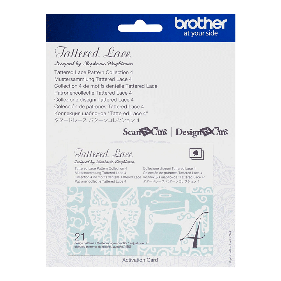Brother ScanNCut Tattered Lace Collectie 4 CATTLP04