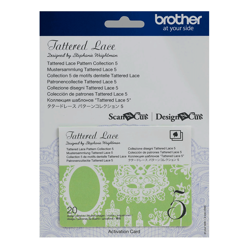 Brother ScanNCut Tattered Lace Collectie 5 CATTLP05