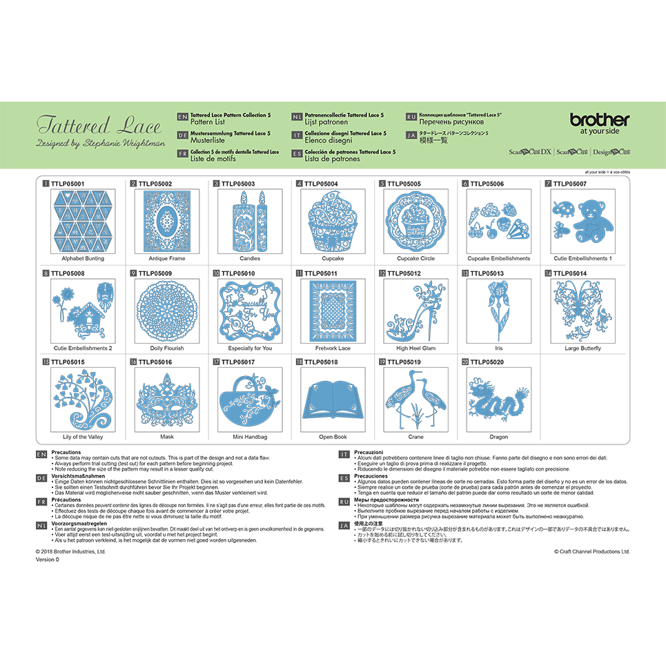 Brother ScanNCut Tattered Lace Collectie5 CATTLP05 2