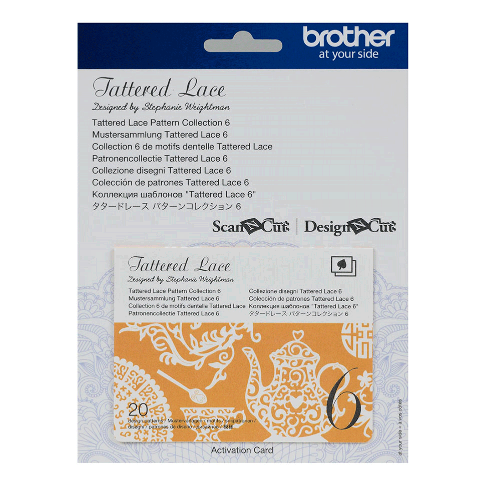 Collection n° 6 de motifs dentelle Tattered Lace Brother ScanNCut CATTLP06