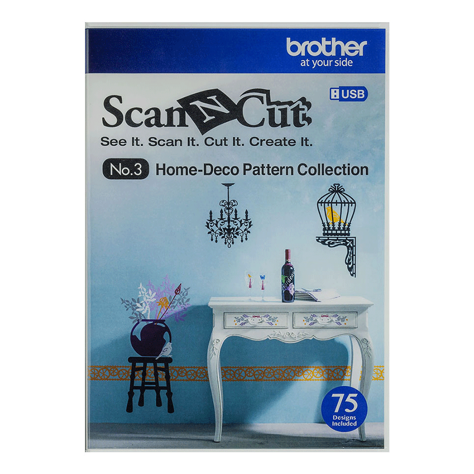 ScanNCut Home-deco Pattern Collection CAUSB3