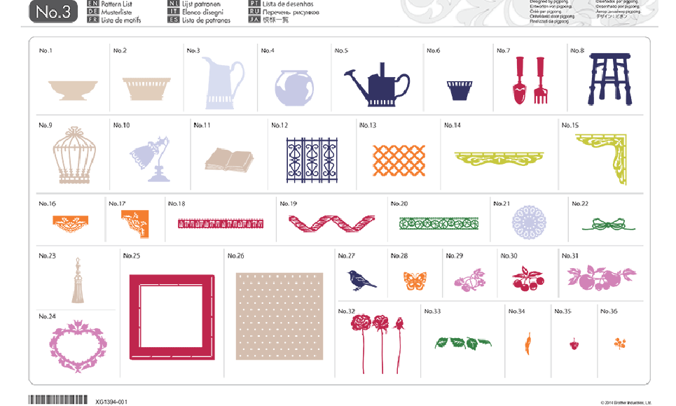 ScanNCut Home-deco Pattern Collection CAUSB3 2